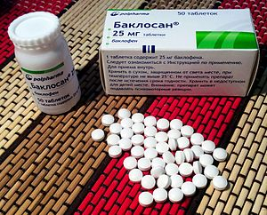 "Baclofen - Russian baclofen (branded Baclosan) 25 mg tablets with a warning: ""This drug may suppress psychomotor skills"""