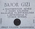 Bajor Gizi Actors' Museum. Plaque of Gizi Bajor by Antal Czinder. - Budapest.JPG