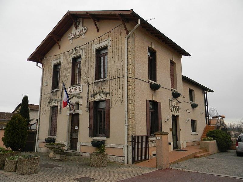 Mairie de Balan (Ain) datant de 1889.
