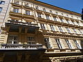 Balconies. Southern parts of the facade. Lajtha House. Listed ID 649. Built in 1872 according to the plans Donat Vojta. - 79, Váci Street, Budapest District V, Hungary.JPG