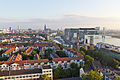 Ballonfahrt über Köln - Rheinauhafen, Kranhäuser, Blick Richtung Altstadt-RS-4045.jpg