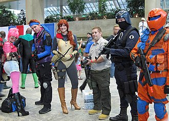 Baltimore Comic-Con - Some people dressed as characters from G.I. Joe at Baltimore Comic-Con, held at the Baltimore Convention Center.