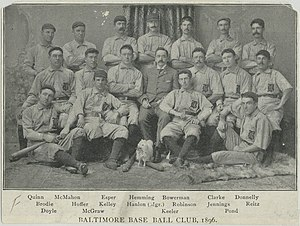 Temple Cup - Image: Baltimore Orioles 1896
