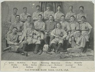 1896 Baltimore Orioles season - Image: Baltimore Orioles 1896