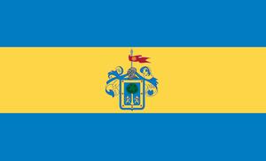 Flag of Guadalajara - Flag of New Galicia.