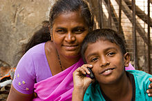 Bangalore mom and son on cellphone November 2011 -14-2 2.jpg