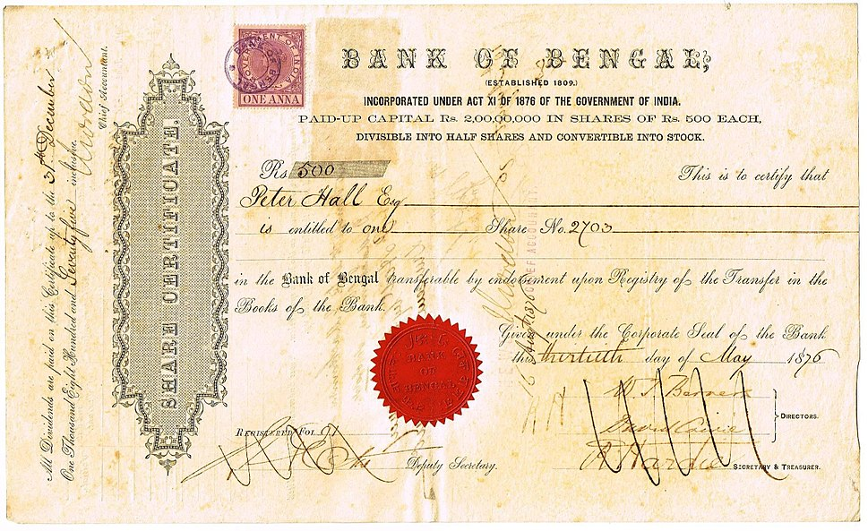 Bank of Bengal 1876