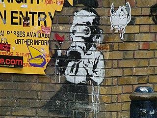 Pseudonymous England-based graffiti artist, political activist, and painter