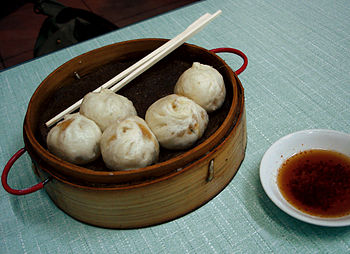 baozi, chinese food in a beijing restaurant