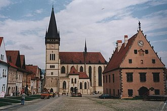 Low Beskids - Image: Bardejov town center square