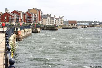 Barry, Vale of Glamorgan - Barry Waterfront in July 2007