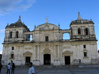 Rubén Darío - The catedral-basílica de la Asunción, in León, Nicaragua, where the poet spent his infancy. His remains are buried in this church.