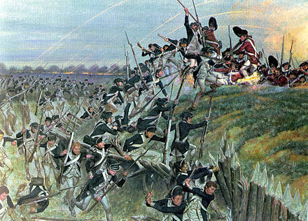 Storming of Redoubt #10 during the Siege of Yorktown Bataille Yorktown.jpg