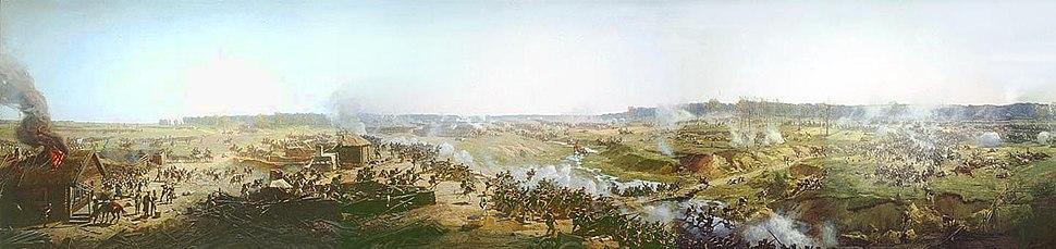 Battle of Borodino panorama fragment 1