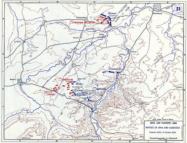 Situation - 2 p.m., 14 October Battle of Jena-Auerstedt - Map03.jpg