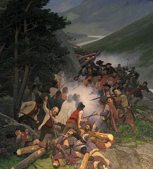 1612 in Norway - Detail of the painting  Battle of Kringen, a nineteenth century national romantic depiction of Battle of Kringen 1612.