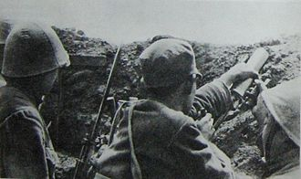 Civil war - Communist soldiers during the Battle of Siping, Chinese Civil War, 1946