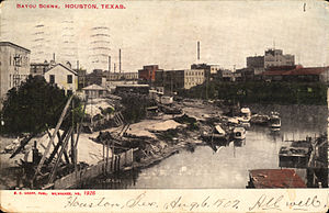 White Oak Bayou - Postcard of Bayou (circa 1907)