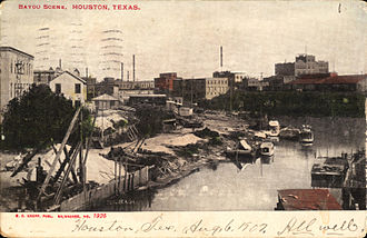 White Oak Bayou - Postcard of Bayou (circa 1907)
