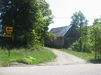 National Register of Historic Places listings in Floyd County, Indiana - Image: Beard Kerr Farm barn
