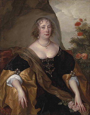 Robert de Vere, 19th Earl of Oxford - Beatrice, Robert de Vere's wife (Anthony van Dyck)