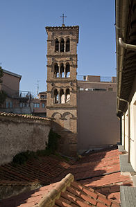 Bell tower of Santi Michele e Magno in Rome.jpg