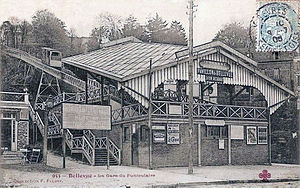 Bellevue funicular - Image: Bellevue La gare du funiculaire