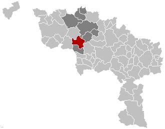 Belœil - Image: Beloeil Hainaut Belgium Map