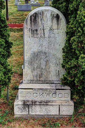 Belva Ann Lockwood - Belva's grave at the Congressional Cemetery.