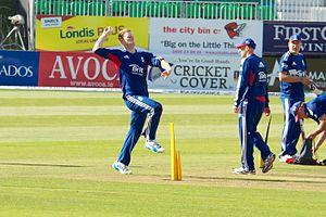 Ben Stokes - Stokes practising before England's ODI against Ireland in 2013