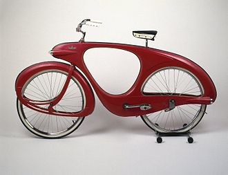 Biomorphism - Spacelander Bicycle designed by Benjamin G. Bowden in 1946; Manufactured 1960. Brooklyn Museum