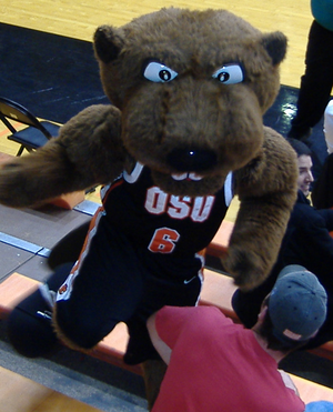 Picture of Benny Beaver (en), mascot of the at...