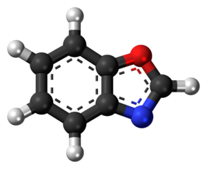 Benzoxazole - Image: Benzoxazole 3D ball inverted
