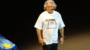 Beppe Grillo - Beppe Grillo in Rome during the tour 2014.