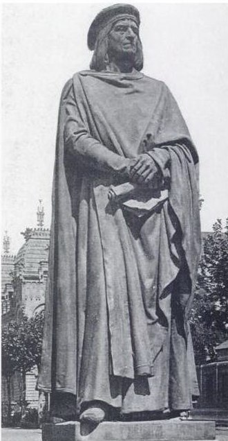 Bernard Desclot - The Bernard Desclot monument which was built in 1888 and was destroyed in 1937. The photograph was taken in 1910