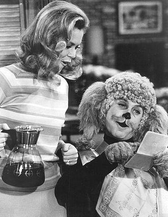 Steve Franken - Franken with Elizabeth Montgomery in Bewitched.