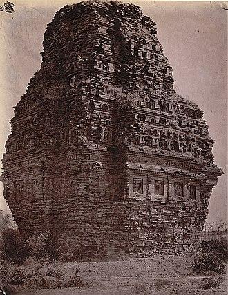Bhitargaon - Rear view of the temple at Bhitargaon, 1875