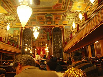Bialystoker Synagogue - Reading the Book of Esther on Purim 2007 at Bialystoker