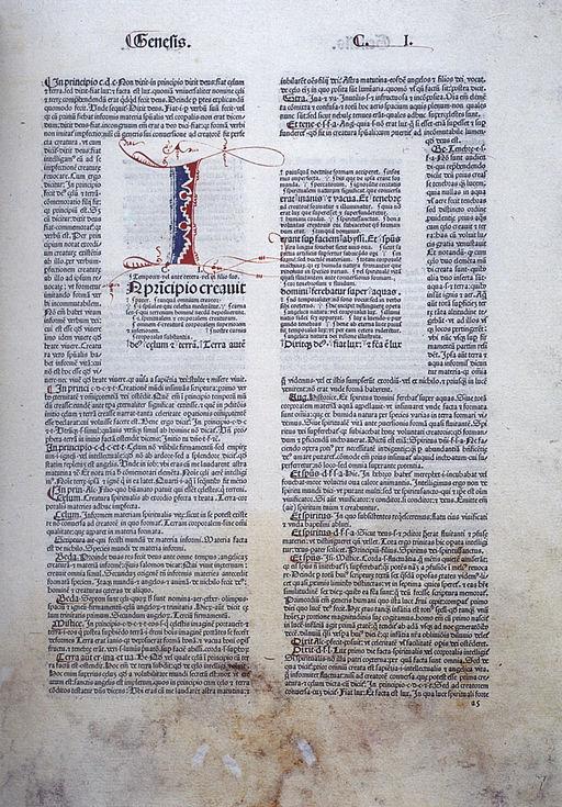 Biblia latina Straßburg 1481 Genesis I (Isny)