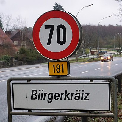 How to get to Biergerkräiz with public transit - About the place