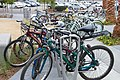 Bike parking near El Monte Station entrance (8172820655).jpg