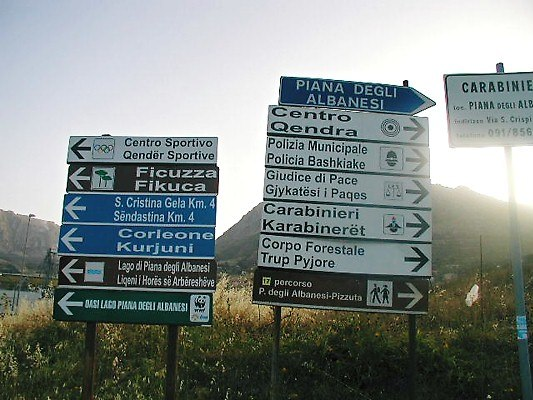 Bilingual signs