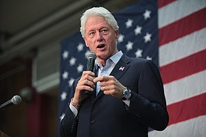 United States presidential election in Arizona, 2016 - Former President Bill Clinton at a campaign rally for his wife at Central High School in Phoenix on March 20, 2016.
