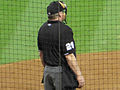 Bill Miller at home plate at Minute Maid in Sept 2013.jpg