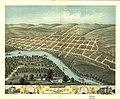 Bird's eye view of the city of Mankato, Blue Earth County, Minnesota 1870. LOC 75694640.jpg