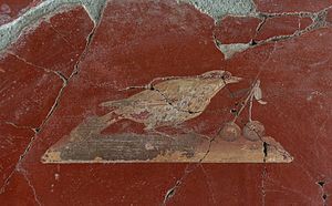 image of Bird and cherries fresco Oplontis
