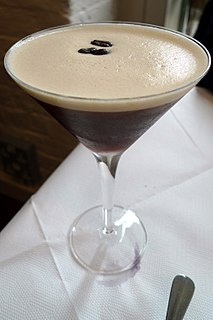 Espresso martini coffee-flavored cocktail