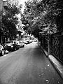 Black and white photograph of a street in Damascus.jpg