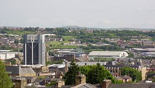 Blackburn town in Lancashire, England