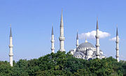 The Blue Mosque with all six minarets visible